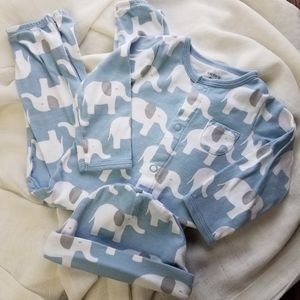 🆕️ CARTER'S Elephant Pajama with Cap 9M